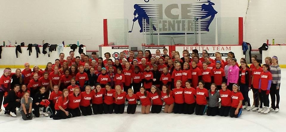 Red Production Group practicing for Skate America